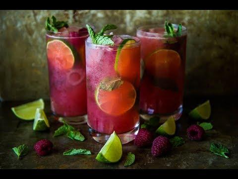fresh-raspberry-mojitos
