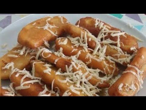 Banana Fritters With Cheese On The Top Pisang Goreng Cheese Mukbang Youtube