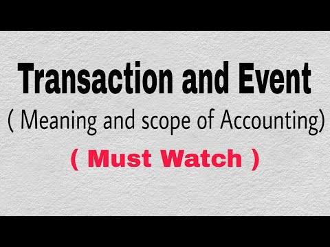 Transaction and Event (for 11th, 12th, CA-CPT, CS-foundation