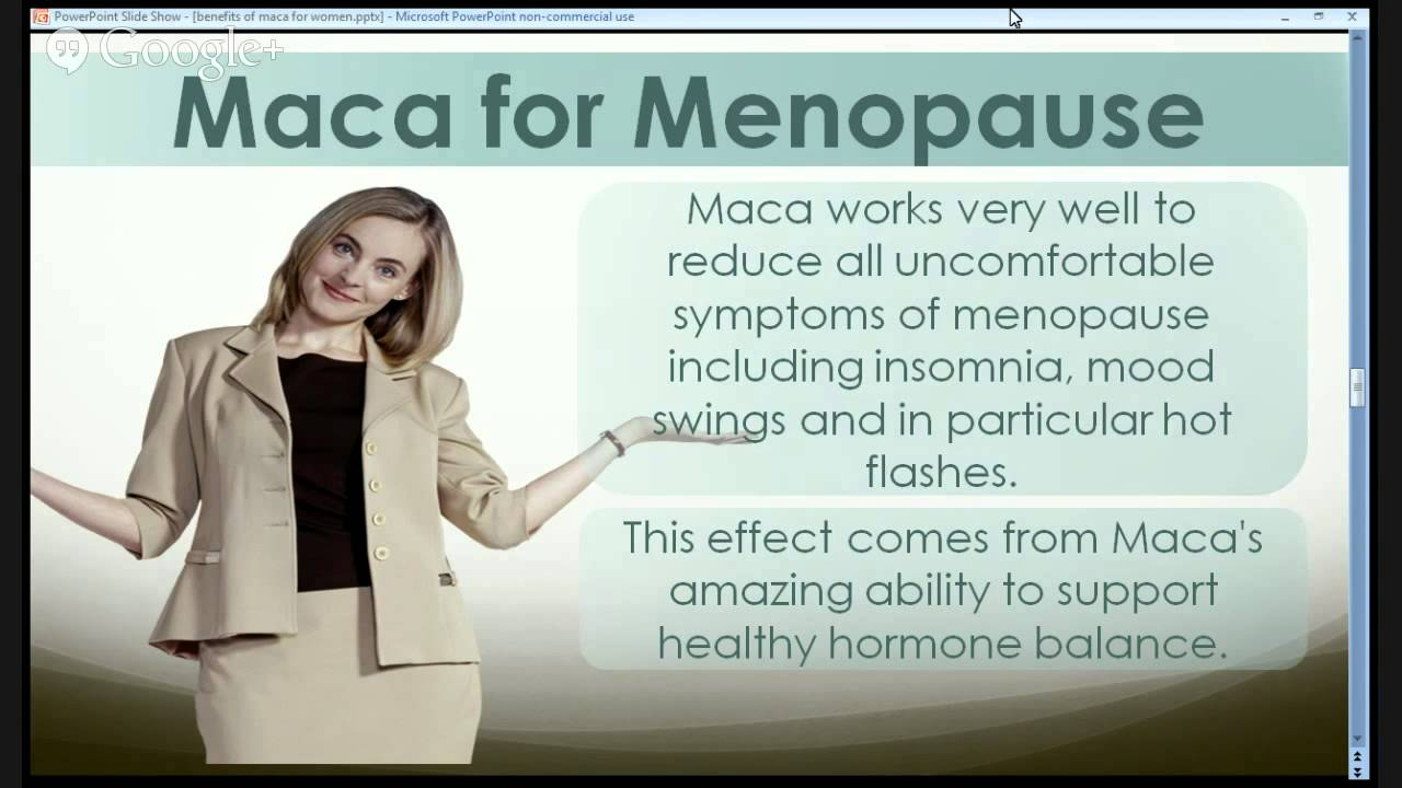 maca vitamin for women