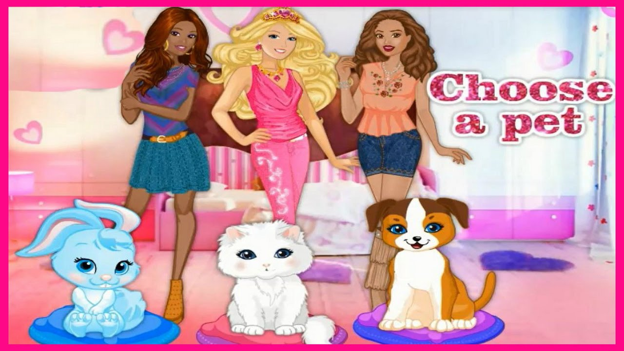 Enjoy Barbie Pets Fashion Show Video Great Pets Caring Game Movies Barbie Games For Kids Youtube