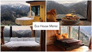 Отель Eco House Merisi. Самый удивительный отель Грузии .Ночь в горах. Водопад Махунцети. Batumi.