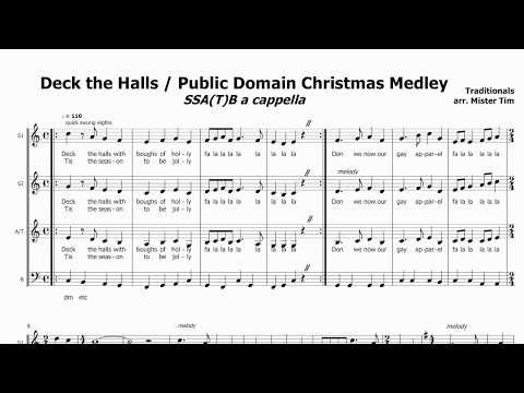 Deck the Halls Public Domain Christmas novelty medley
