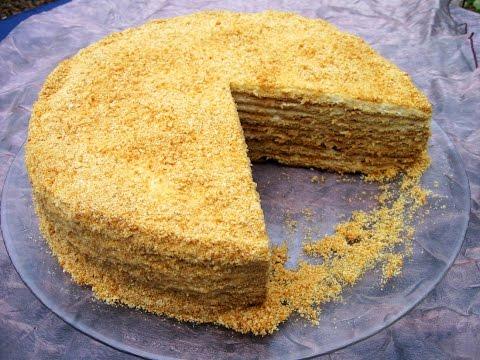 Торт медовик  Рыжик со сметанным кремом / Пошаговый рецепт