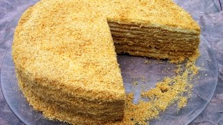 Торт медовик  ''Рыжик'' со сметанным кремом / Пошаговый рецепт