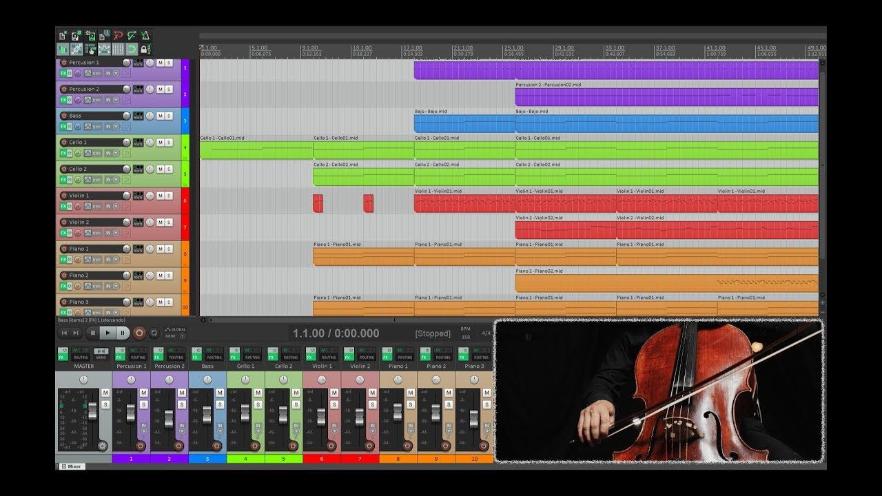 Virtual Playing Orchestra in Reaper (Free Plugin Sound Test)