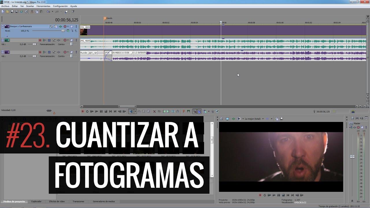 SONY VEGAS PRO 13 #23 Cuantizar a fotogramas (Tutorial) - YouTube