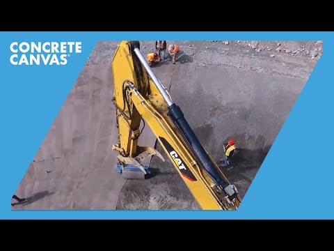 Concrete Canvas Channel Lining - Eagle Gold Mine, Canada