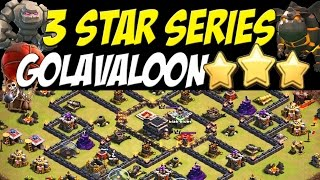 3 Star Series: Golavaloon TH9 Attack Strategy (Lightning+Earthquake Spells) | Clash of Clans