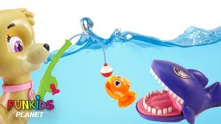 Video Paw Patrol Chase & Skye Let's Go Fishing with Sharks Color Fish Toys: Learning Colors for Children: download MP3, 3GP, MP4, WEBM, AVI, FLV Agustus 2017