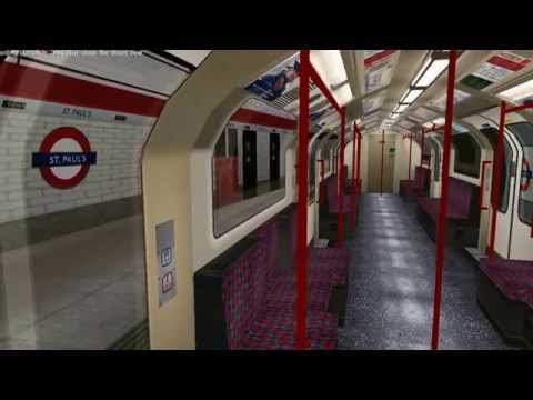openbve - central line - Ealing broadway to liverpool street