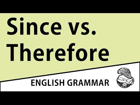 When can i use therefore in a sentence