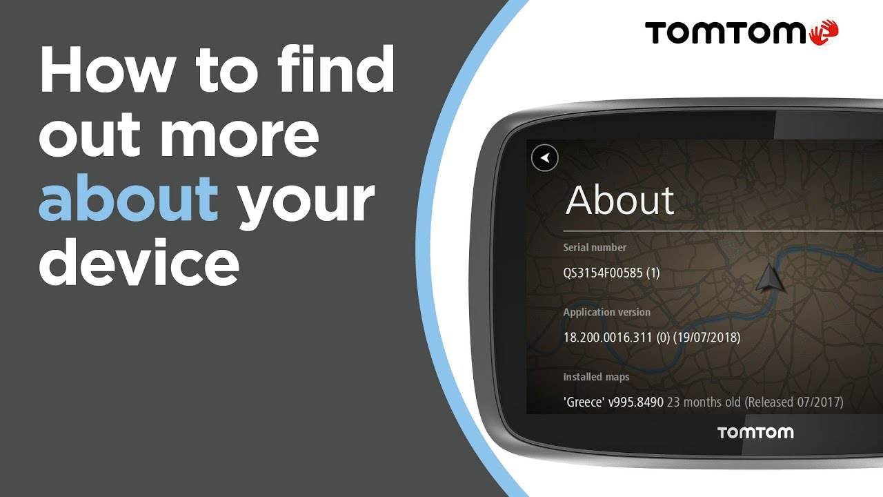 Finding the software and map version on your navigation device