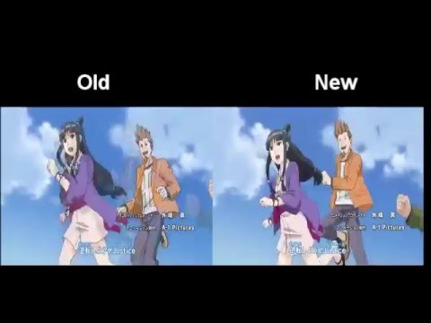 Ace Attorney Anime - Changes to the intro (Episode 1/ Episode 4)