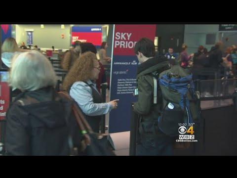 Thanksgiving Holiday Travelers At Logan Airport