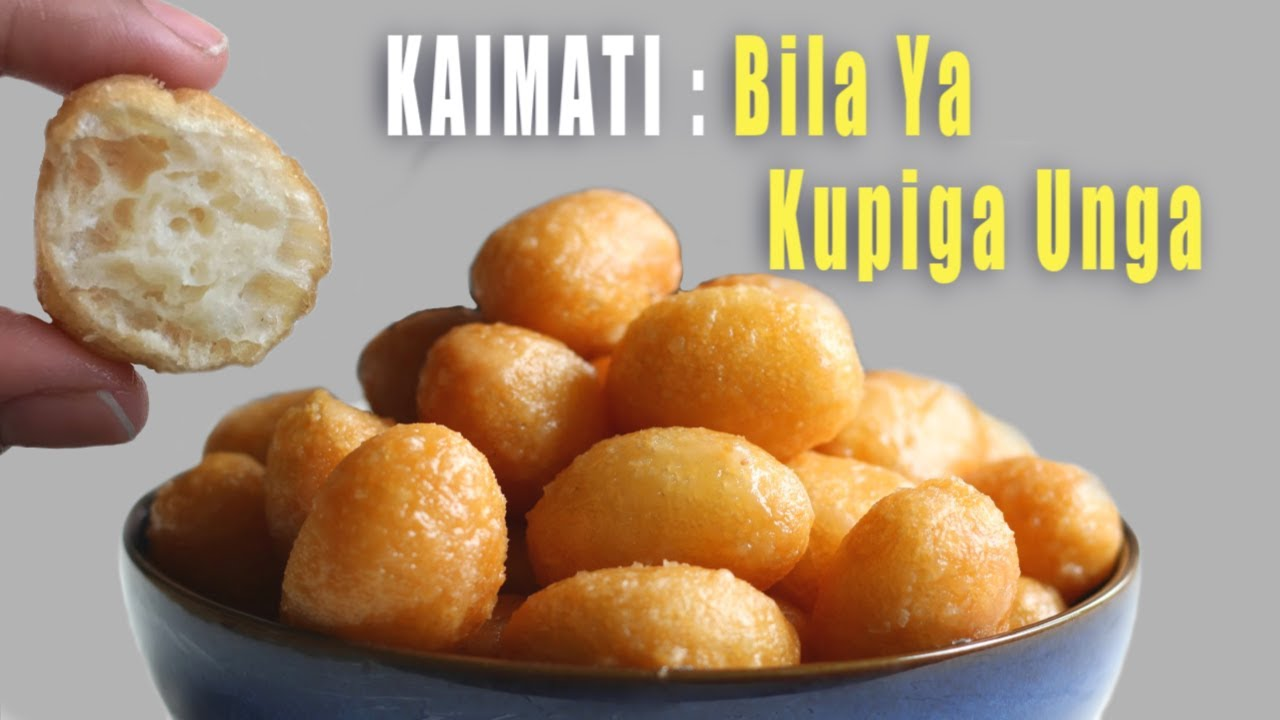 Kaimati/ Luqaimat (Sweet Dumplings) Bila Ya Kupiga Unga (No Beating No Kneading)