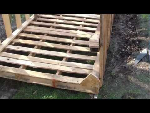 How to build free or cheap shed from pallets diy garage for Cheapest way to build a building