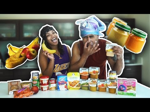 BABY FOOD vs ADULT FOOD CHALLENGE!!! (VOMIT ALERT)