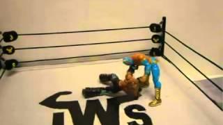 WWE match toys animation Mysterio vs Sin Cara jws