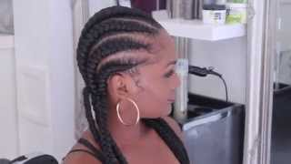 Big Cornrows At EbonyB Salon