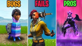Ridiculous LLAMA BUG! BUGS vs FAILS vs PROS! Fortnite Funny Moments 291