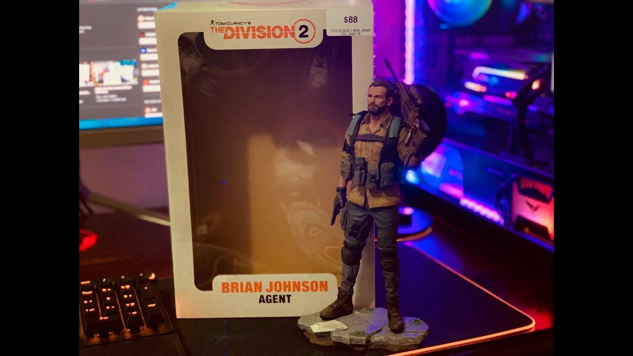 Figurine Tom Clancy/'s The Division 2 Brian Johnson 25 cm Statue Collection Neuf