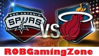NBA 2K14 PC GamePlay  - Spurs vs Heat  HD !
