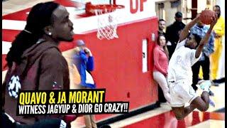 Quavo & Ja Morant Witness Josh Christopher GO CRAZY For 44 Points! Dior & Josh INSANE Highlight SHOW