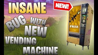 INSANE BUG WITH NEW VENDING MACHINE! Fortnite Battle Royale Moments!