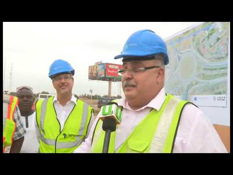 ROADS AND HIGHWAYS MINISTER INSPECTS COMPLETED IMPROVEMENT WORKS ON MOTORWAY ROUNDABOUT-UTV
