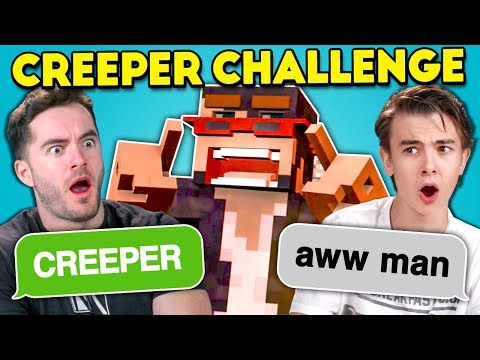 Teens React To Creeper Aw Man Discord Game (Ft. CaptainSparklez)