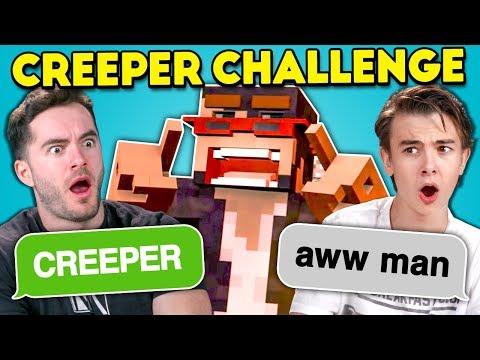 Teens React To Creeper Aw Man Discord Game Ft CaptainSparklez