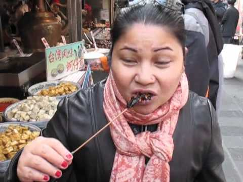 Eating Scorpions in China