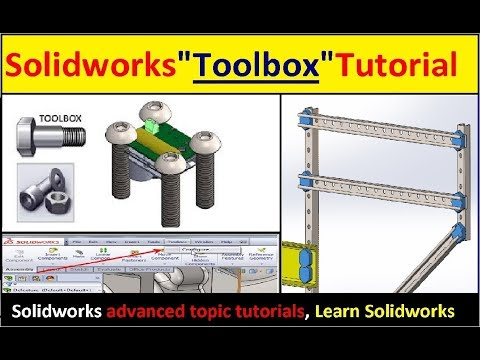 """Solidworks """"Toolbox"""" Tutorial (Toolbox basic to advance)   Solidworks Tutorials"""