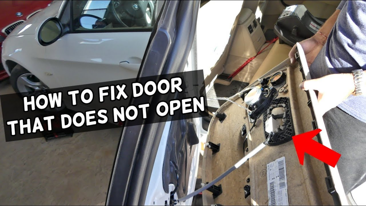 How To Fix Door That Does Not Open From Inside On Bmw Youtube