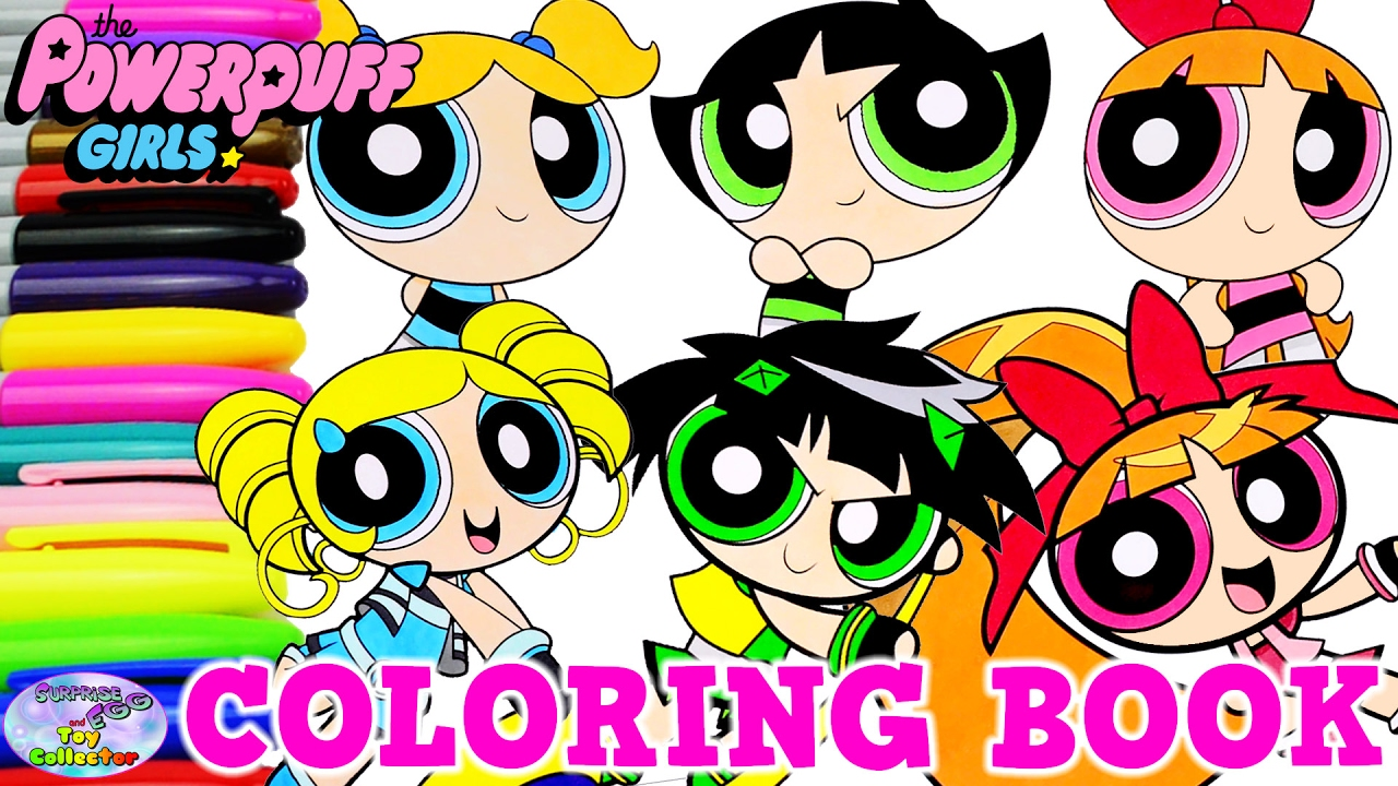 Powerpuff Girls Coloring Book Bubbles Blossom Buttercup PPG PPGZ ...