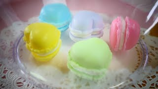 DIY Melt & Pour Pastel colored Macaron Soap (Don't Eat This) パステルカラーのマカロンせっけんの作り方