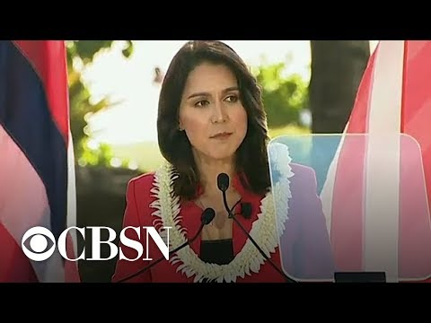 Tulsi Gabbard kicks off presidential campaign at Honolulu rally