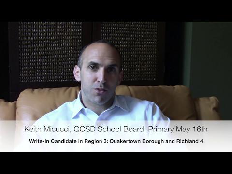 Keith Micucci, Write-In Candidate, QCSD School Board Region 3