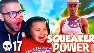MY LITTLE BROTHER IS THE BEST 10 YEAR OLD KID ON FORTNITE!!! 17 KILLS! Finally a Fortnite Video btw