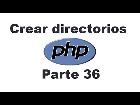 Curso de PHP 36 - Crear directorios