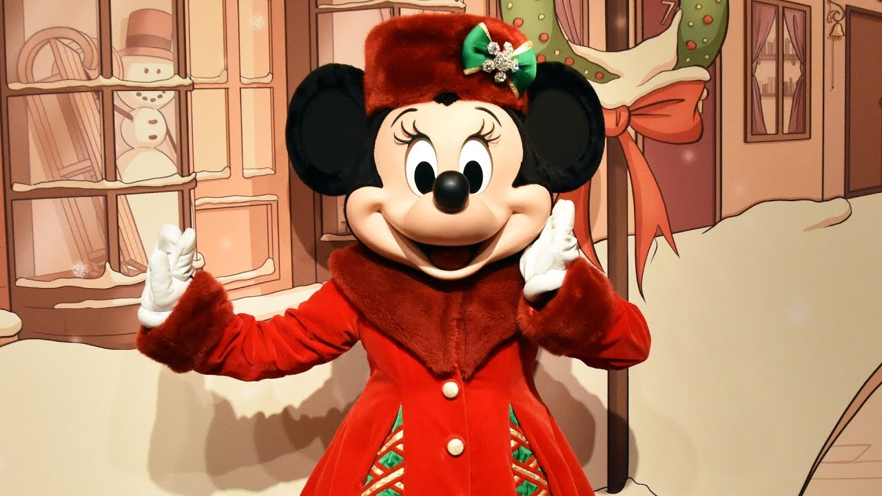 Christmas Minnie Mouse Disneyland.Minnie Mouse New Holiday Christmas Meet Greet At Disneyland Paris Walt Disney Studios 2018
