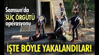 Samsun'da suç örgütü operasyonu! İşte böyle yakalandılar...