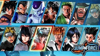 JUMP FORCE - Closed Beta Demo - ALL PLAYABLE CHARACTERS & STAGES GAMEPLAY (HD 1080p)