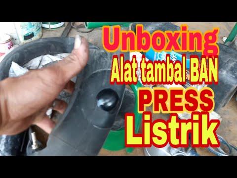Unboxing Alat Tambal Ban Press Listrik