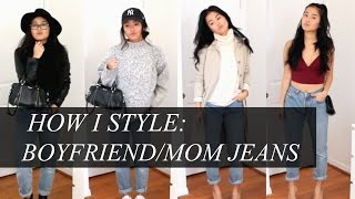 HOW I STYLE: Boyfriend/Mom Jeans (casual & dressy for fall) | rachspeed