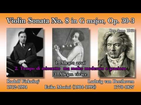 Beethoven: Violin Sonata No. 8, Morini & Firkušný (1962) ベートーヴェン ヴァイオリンソナタ第8番 モリーニ