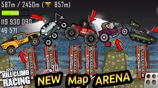 Hill Climb Racing New Map ARENA GamePlay 2017 Update