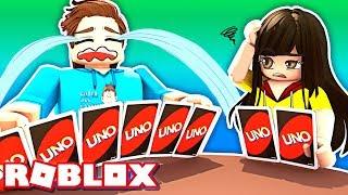 Quase virou a mesa em Uno! Roblox