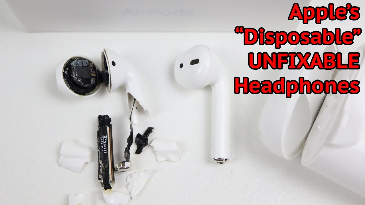 "Apple's ""Disposable & UNFIXABLE"" $250 AirPods - e-waste problem"